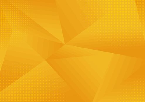 Abstract yellow low polygon geometric consisting of triangles of