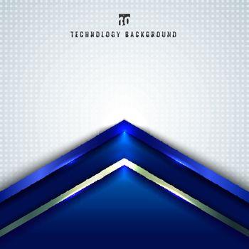 Abstract technology concept blue metallic angle arrow overlappin