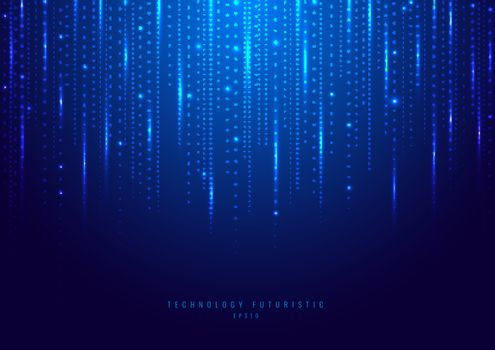 Abstract technology digital futuristic different neon glowing do
