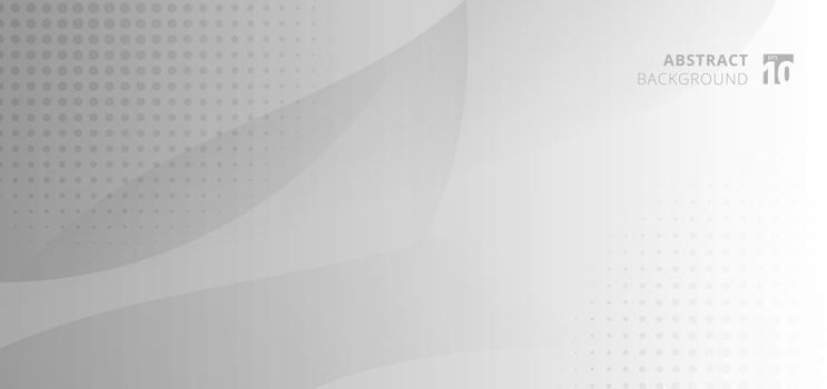 Abstract background banner web template white and gray curve cir
