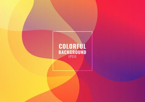 Abstract fluid colorful gradient shape background