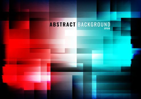 Abstract modern background geometric lights and glowing red and