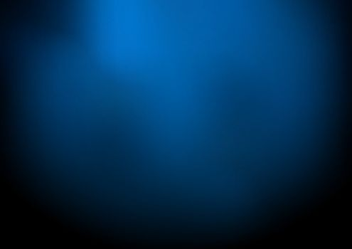 Abstract dark blue blurred background with smoke and space for y