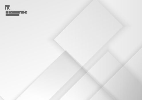Abstract background white and gray geometric square with shadow