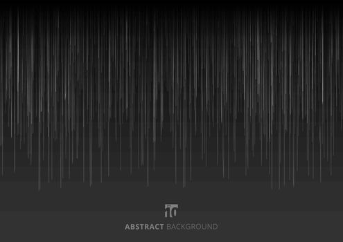 Abstract black background with white vertical lines texture