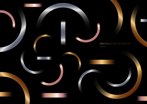 Abstract geometric metallic gradient shapes composition golden,