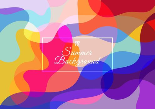 Abstract colorful background consisting fluid wave shape overlay. Summer style. Vector illustration