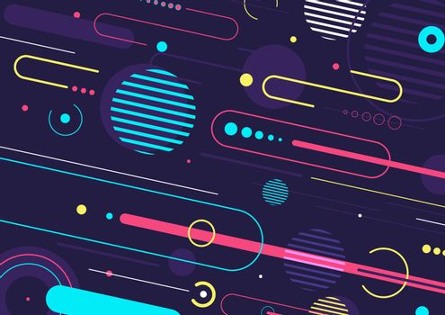 Creative abstract dynamic geometric elements pattern design and background. You can use for template cover brochure, poster, banner web, flyer, etc. Vector illustration