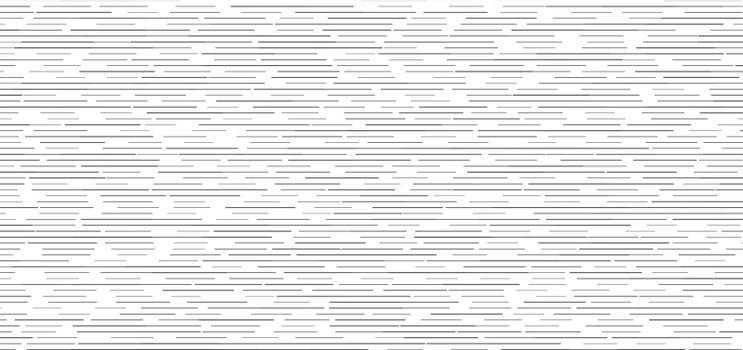 Abstract black horizontal dashed lines seamless pattern on white background. Vector illustration