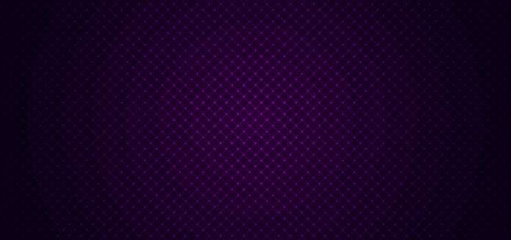 Abstract geometric squares pattern design with lines grid on dark purple background and texture. Luxury style. Vector illustration