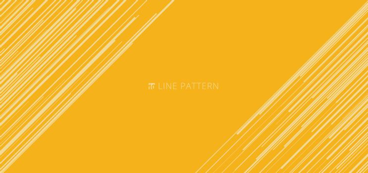 Banner web template abstract light yellow diagonal speed lines pattern on yellow background and texture. Vector illustration