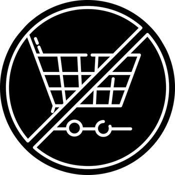 Anti consumerism black glyph icon