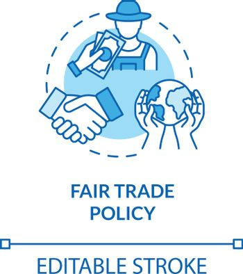Fair trade policy turquoise concept icon. Professional partnership and networking. Responsible business idea thin line illustration. Vector isolated outline RGB color drawing. Editable stroke