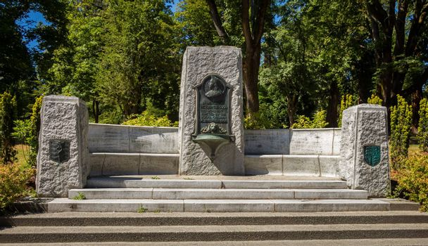 Vancouver, Canada - July 27th 2017: Queen Victoria Memorial Fountain, Stanley Park, Vancouver, British Columbia, Canada