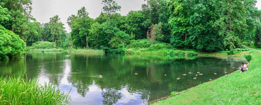 Bila Tserkva, Ukraine 06.20.2020. Alexandria park in Bila Tserkva, one of the most beautiful and famous arboretums in Ukraine, on a cloudy summer day.