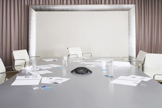 Photo of Messy Conference Room