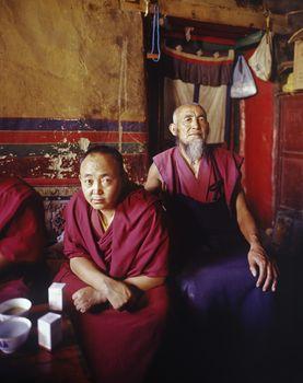 Portrait of Buddhist Monks