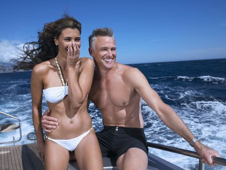 Portrait of Couple on a Boat