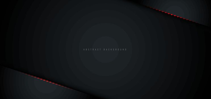 Abstract black metallic with red shiny light layout modern technology design template background. Vector illustration