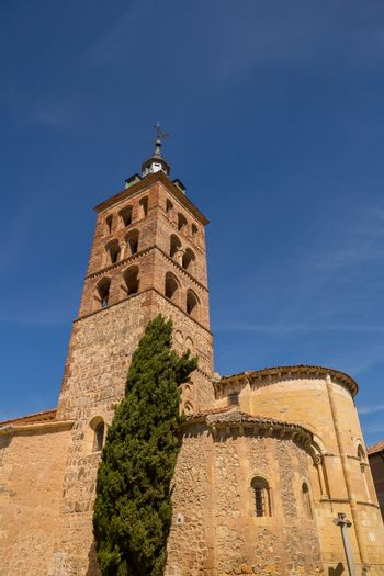 architectural detail of the church of Saints Justo and Pastor in the historic city center of Toledo, Spain