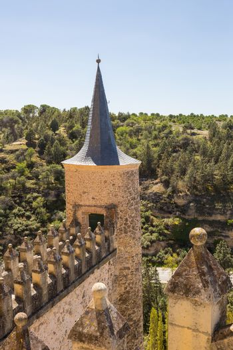 Segovia, Spain - The famous Alcazar castle of Segovia, Castilla y Leon, Spain