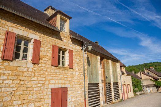 Perigord Noir, Saint Amand de Coly typical houses, labelled Les Plus Beaux Villages de France - The Most Beautiful Villages of France