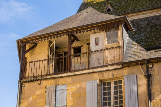 Sarlat-la-Caneda, France - Houses of the centre of the old medieval town of Sarlat-la-Caneda, Dordogne, France.