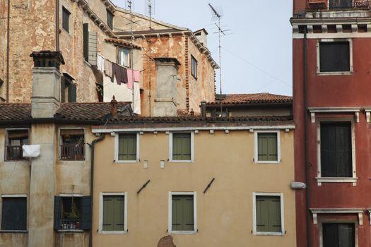 Italy Venice old town building facades