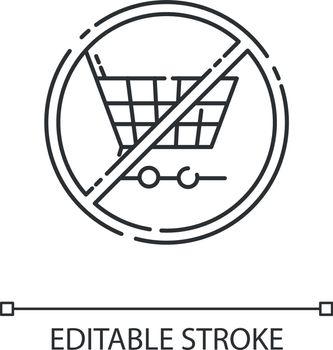 Anti consumerism linear icon