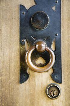 Brass Door Handle at Meiji Shrine