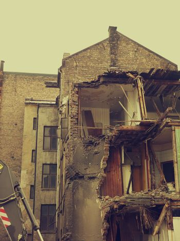 Demolishing of abandoned building