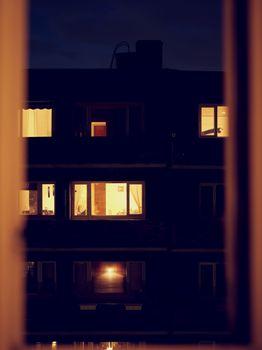 Block of flats at night