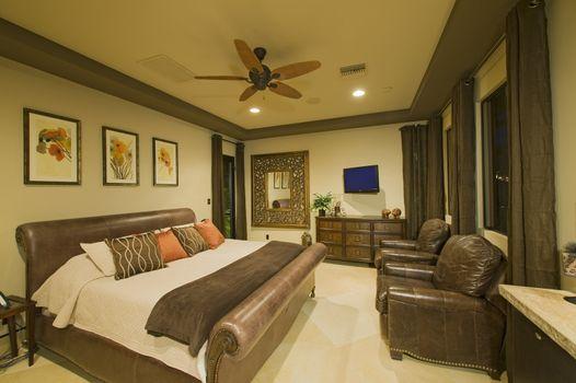 View of bedroom in luxury villa