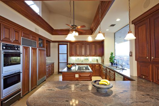Contemporary kitchen in luxury house