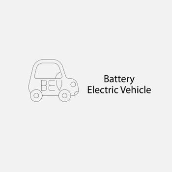 BEV,EV,Battery Electric Vehicle Icon.Electric car icon and charg