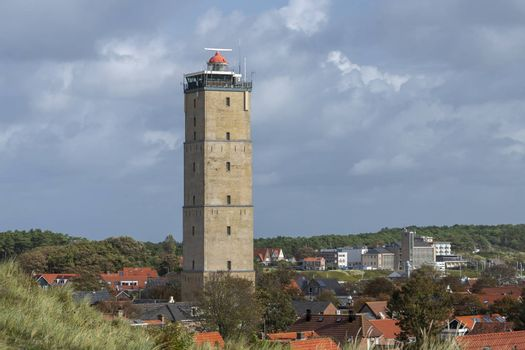 The Brandaris historic lighthouse on the island of Terschelling in the northern Netherlands. It is the oldest working lighthouse in the Netherlands dates from 1594.
