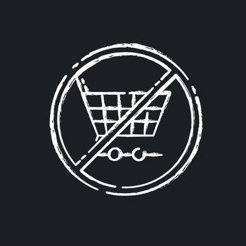 Anti consumerism chalk white icon on black background