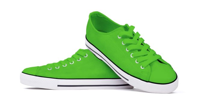 Shoes isolated on white background - Green