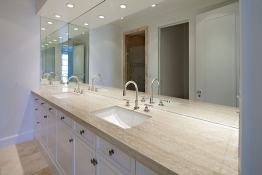 Empty bathroom of luxury villa