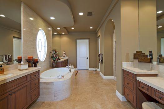 Luxurious bathroom interior