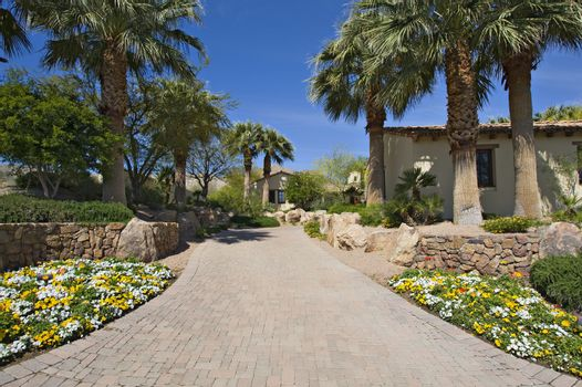 Walkway leading to residential house