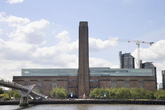 Tate Modern art museum and River Thames at London, England, UK
