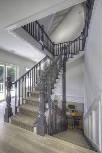 Staircase landing of traditional house