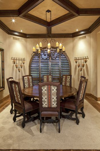 Dining table in luxury home