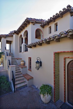 Façade of luxury villa
