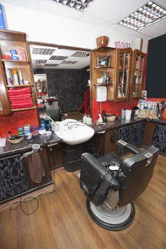 Interior of hair salon