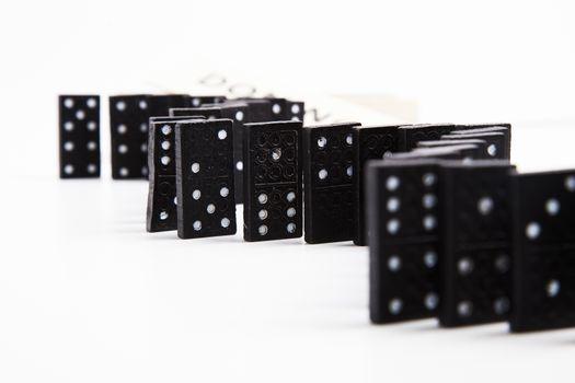 Domino tiles arranged in order