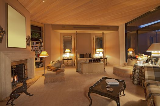 Huge bedroom in luxury house