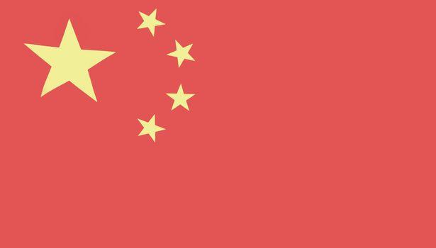 Full-frame shot of Chinese flag