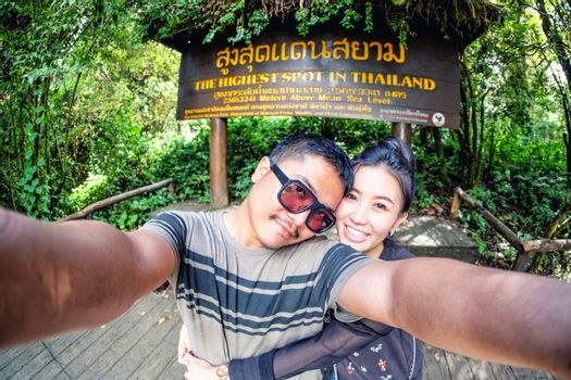 Couole love  selfie in Highest spot at Thailand